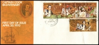 Lot 1046:APO strip of 5 and 30c tied to long illustrated APost FDC by Melbourne cds 20APR70, unaddressed.