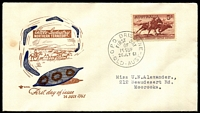 Lot 724:Royal 1961 5/- Stockman illustrated FDC tied by Brisbane cds 26JLY 61.