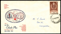 Lot 735:Royal 1961 1/- Colombo Plan tied to Royal illustrated FDC by Prahran cds 30 JE 61.