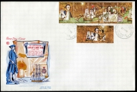 Lot 792:WCS 1970 Bi-Centenary trip of five and 30c tied to large illustrated FDC by Philatelic Bureau FDC 20 AP 70, unaddressed.