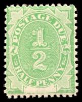 Lot 3932:1902 Converted NSW Plates BW #D1 ½d Emerald.