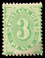 Lot 443:1902 Converted NSW Plates BW #D7a 3d emerald with inv wmk.
