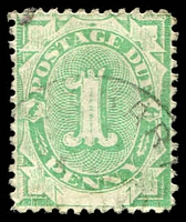 Lot 608:1902 Converted NSW Plates BW #D3 1d emerald