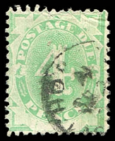 Lot 654:1902 Converted NSW Plates BW #D11 4d Emerald