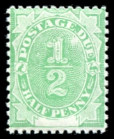 Lot 3933:1902 Converted NSW Plates BW #D1 ½d emerald.