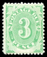 Lot 652:1902 Converted NSW Plates BW #D7a 3d emerald with wmk upright