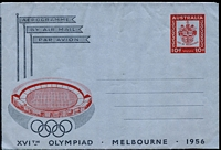 Lot 3450:1956 10d Olympic Games with 'MELBOURNF'.