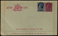 Lot 633:1959 5d On 4d Claret QEII BW #LC83 unused.