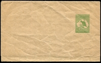 Lot 895:1913-15 ½d Green Kangaroo BW #W1 ½d green on buff.
