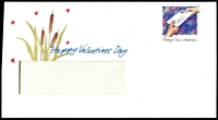 Lot 3494:Lettergram Envelopes: 1990s illustrated with Happy Valentines Day on cover and 'Be my special little Valentine' and illustrations of frogs on the inside, unused.