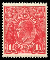 Lot 2785:1½d Red Die I - BW #90.