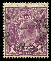Lot 144:1d Violet - BW #76(4)p White spot in SE corner.