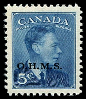 Lot 3783 [2 of 2]:1949-50: SG #O172-7 set Optd OHMS. (6)