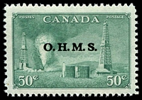 Lot 3783 [1 of 2]:1949-50: SG #O172-7 set Optd OHMS. (6)