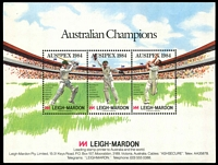 Lot 23:Australia: Ausipex 1984 Australian Champions Cricketers M/sheet.