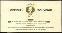 Lot 19:Australia: 1972 Anpex Philatelic Exhibition numbered M/sheet with facsimile £1 & £2 Roos and 5/- Bridge with cardboard folder.