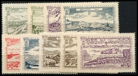 Lot 5:Austria: 1965 Wipa Stamp Exhibition set of nine labels. (9)