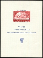 Lot 6 [1 of 2]:Austria: 1965 Wipa Imperf M/sheet together with Exhibition entry ticket. (2)