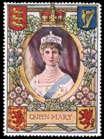 Lot 10:Great Britain: c.1916 multi-coloured label with portrait of Queen Mary issued for Lord Roberts Memorial Fund.