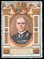 Lot 11:Great Britain: c.1916 multi-coloured label with portrait of Major General The Hon S Hughes issued for Lord Roberts Memorial Fund.