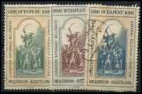 Lot 13:Hungary: 1896 National Millenium Exhibition set. (3)