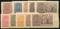 Lot 18:Philippines: Imperf Revenues set. (10)