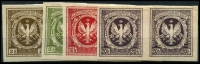 Lot 19:Poland: Legion locals imperf set in pairs. (8)