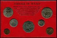Lot 49 [1 of 2]:Tuvalu: 1976 Uncirculated set in presentation folder.