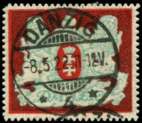 Lot 3983:1921-22 High Values Mi #87 5M.
