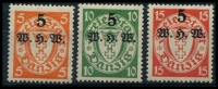 Lot 3987:1934 Overprints Mi #237-9 set. (3)