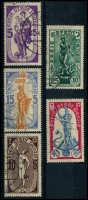 Lot 3412:1937 Winter Fund Mi #276-80 set. (5)