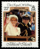 Lot 3909 [2 of 3]:1986 Royal Wedding Andrew and Sarah SG #536-8 set. (3)