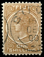 Lot 4019:1881-99 1/- Brown SG #66 Perf 11.