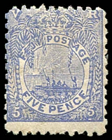 Lot 4023:1891-1902 New Designs Perf 11x10 SG #85 5d ultamarine.