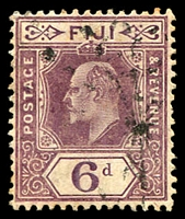 Lot 3446:1906-12 KEVII Wmk Multi Crown/CA New Colours SG #121 6d dull purple.