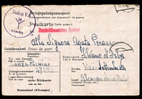 Lot 3525 [1 of 2]:1943 usage of POW card to Italy from Stalag 31.
