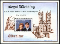 Lot 4027:1986 Royal Wedding Andrew and Sarah SG #545 M/sheet.