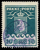 Lot 3607:1915-37 Pakke-Porto Perf 11¼ SG #P7A 10ø green-blue.
