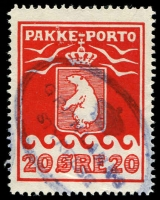 Lot 3894:1915-37 Pakke-Porto Perf 11¼ SG #P9A 20ø red.