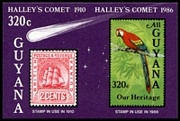 Lot 3617:1986 Halley's Comet M/Sheet.