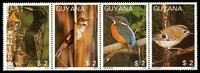 Lot 3618:1987 Birds se-tenant strip of 4.