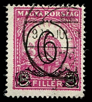 Lot 3960:1931 Surcharges SG #523b 6f on 8f lilac-rose Perf 14, Cat £190.