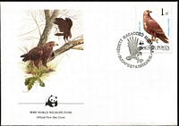 Lot 3966 [3 of 5]:1983 WWF Birds of Prey SG #3507-13 set ** plus set tied to illustrated FDCs, unaddressed.