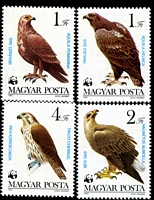 Lot 3966 [1 of 5]:1983 WWF Birds of Prey SG #3507-13 set ** plus set tied to illustrated FDCs, unaddressed.