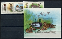 Lot 4224:1988 Birds SG #3851-6 set & M/Sheet. (6)