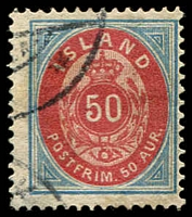 Lot 4227:1892 SG #24 50a blue and rose.