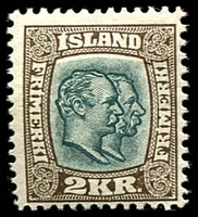 Lot 4228:1907 SG #94 2Kr sepia and green-black.