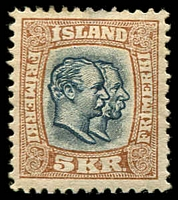 Lot 4229:1907 SG #95 5Kr brown and black-blue.