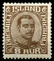 Lot 4230:1920 King Christian X SG #121 8a brown.