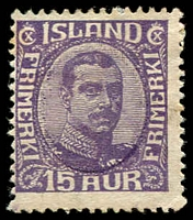 Lot 4231:1920 King Christian X SG #123 15a violet.